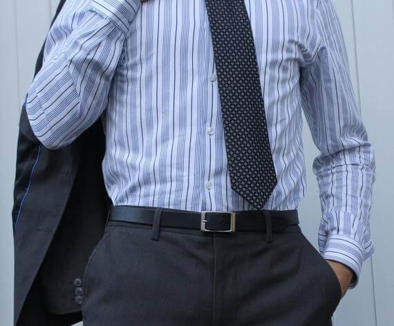 Dây thắt lưng nhỏ phù hợp với quần âu, Áo Vest
