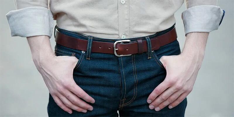 Hãy lựa chọn thắt lưng làm bằng da thật