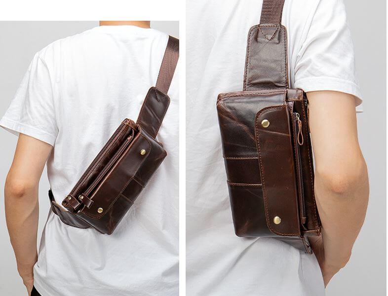 Túi đeo chéo da bò sáp