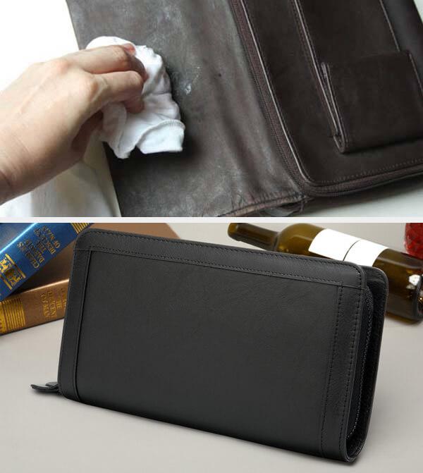 Dễ dàng vệ sinh ví cầm tay