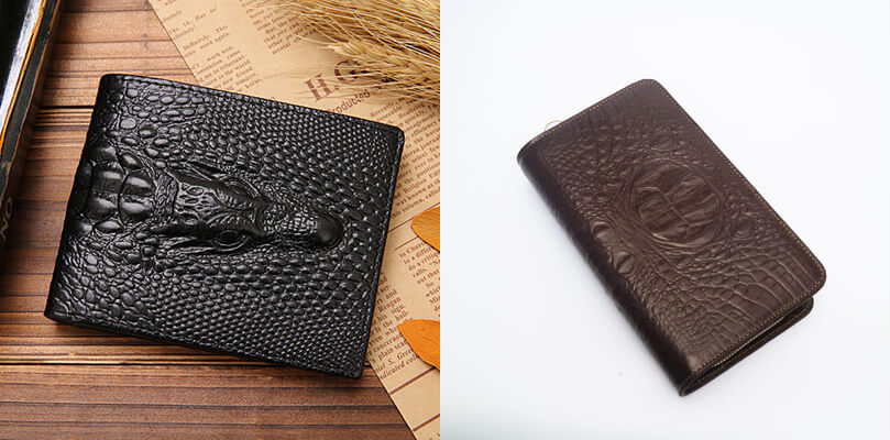 Tính thẩm mỹ của những chiếc ví da bò được dập vân da cá sấu