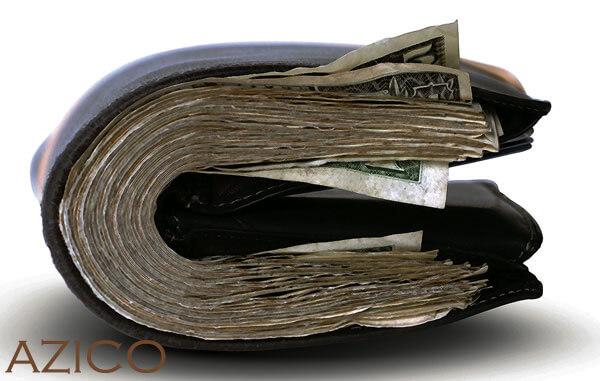Đựng tiền quá dày trong ví