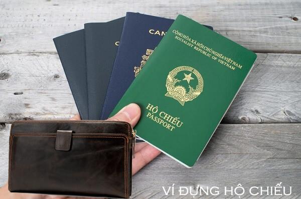Mẫu ví đựng passport da bò thật