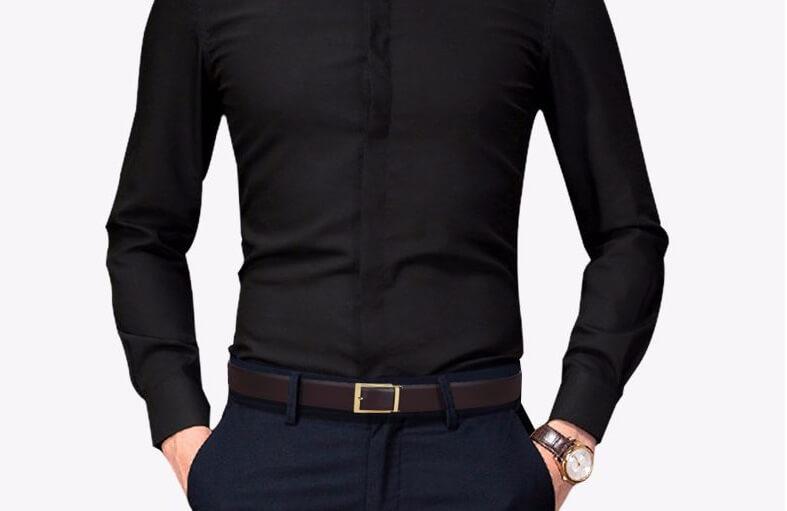 Mẫu thắt lưng C136A có thể sử dụng cho quần vải, quần bò