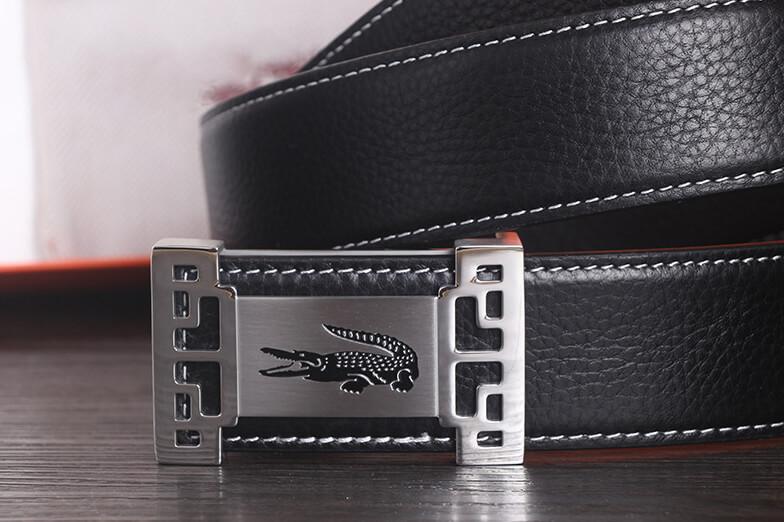 Dây lưng mặt khóa thép không gỉ hình cá sấu khóa bấm sang trọng C528