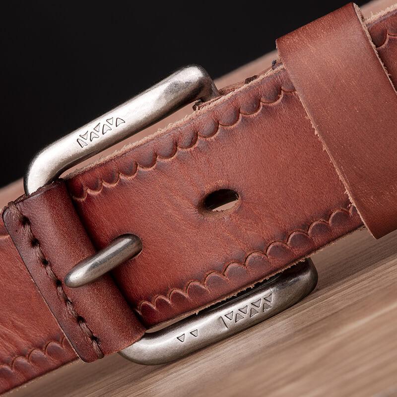 Dây lưng da bò cổ điển bản 3,8cm dành cho quần Jean nam C611