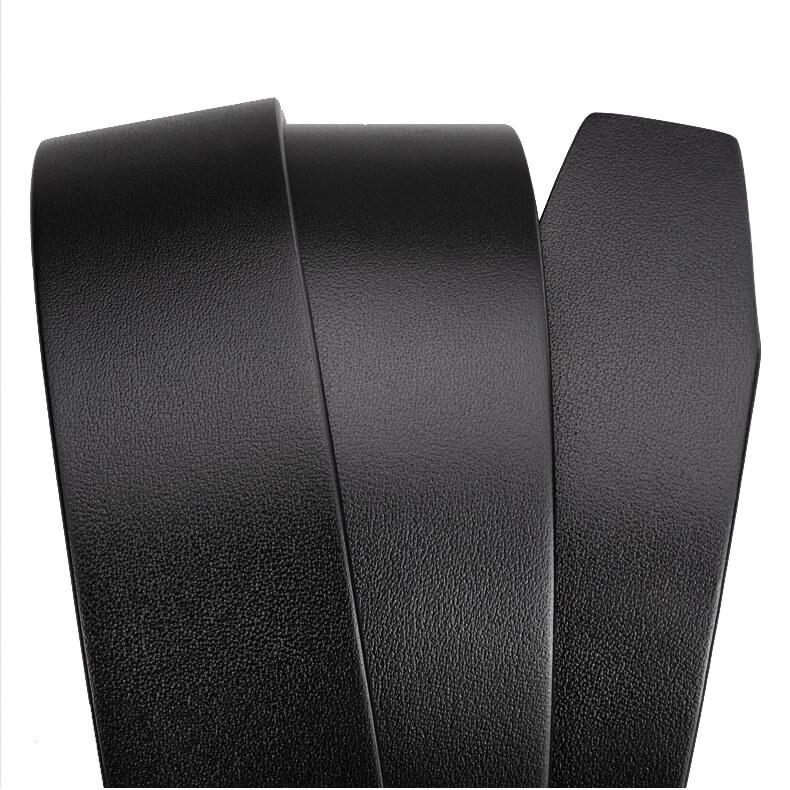 Dây lưng da bò nguyên miếng màu đen + nâu hợp quần Âu, Jean  bản 3.5cm - C614