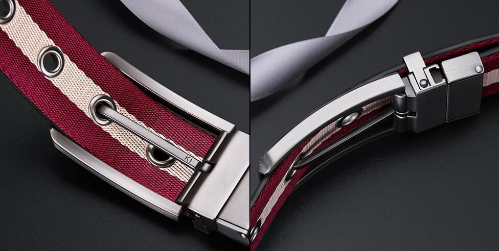 Thắt lưng sử dụng 2 mặt da bò và mặt vải 1 trong 2 hợp quần Tây C823