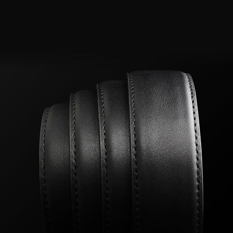 Dây thắt lưng da bò mịn khâu viền 2 bên khóa chữ G sang trọng C259