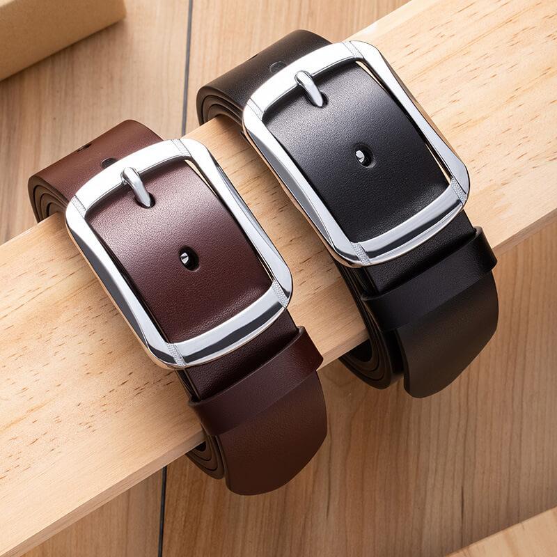2 mẫu dây lưng da bò C295A và C295B