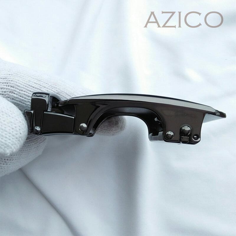 Thắt lưng da bò nam cao cấp khóa màu đen sang trọng C905