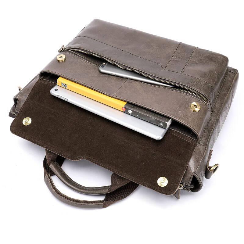 Cặp xách đựng Laptop chất liệu da thật đẹp A9759