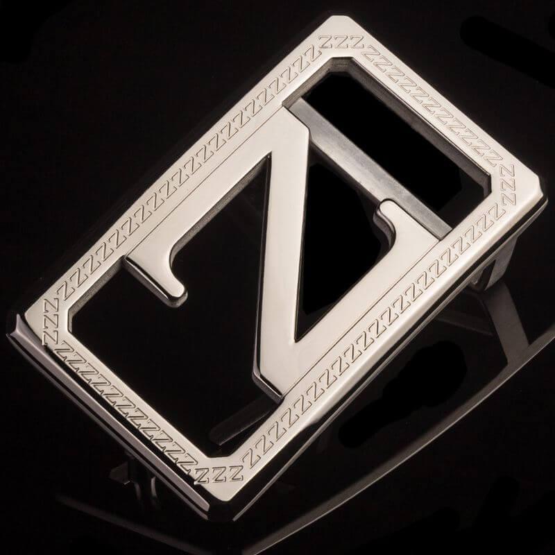 Mẫu khóa màu bạc chữ Z sang trọng