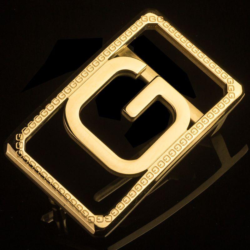 Mặt khóa thắt lưng chữ G màu vàng