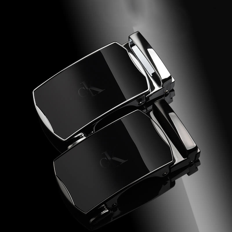 Mặt khóa thắt lưng khóa cài tự động logo chữ CK đậm mờ đẹp mắt B411