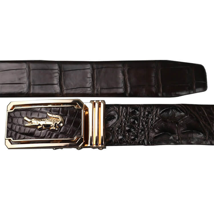 Dây lưng da cá sấu gai lưng liền không nối màu đen E230
