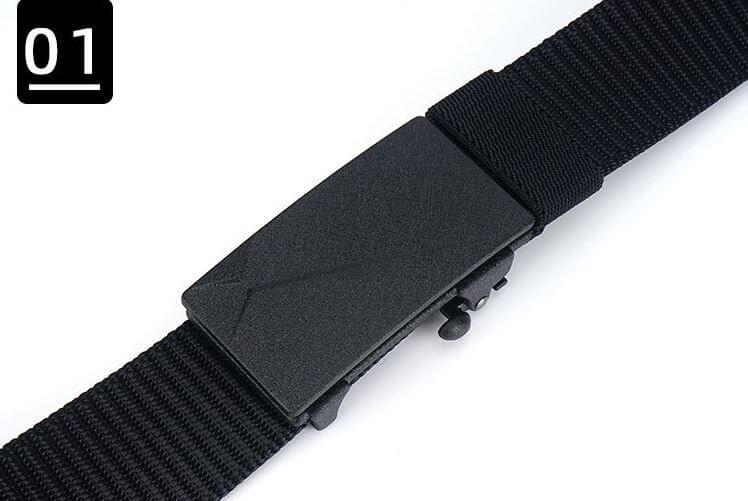 Thắt lưng nam chất liệu vải canvas bền đẹp khóa kẹp tự động bản 3.2cm nhỏ gọn