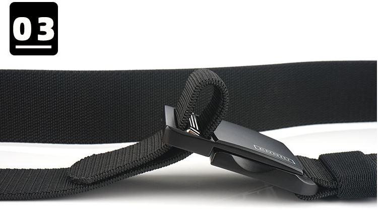 Thắt lưng vải nam bản rộng 3,8cm H009