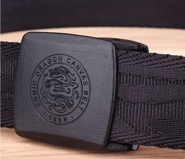 Thắt lưng vải bản 3.8cm khóa hình rồng đẹp mắt H014