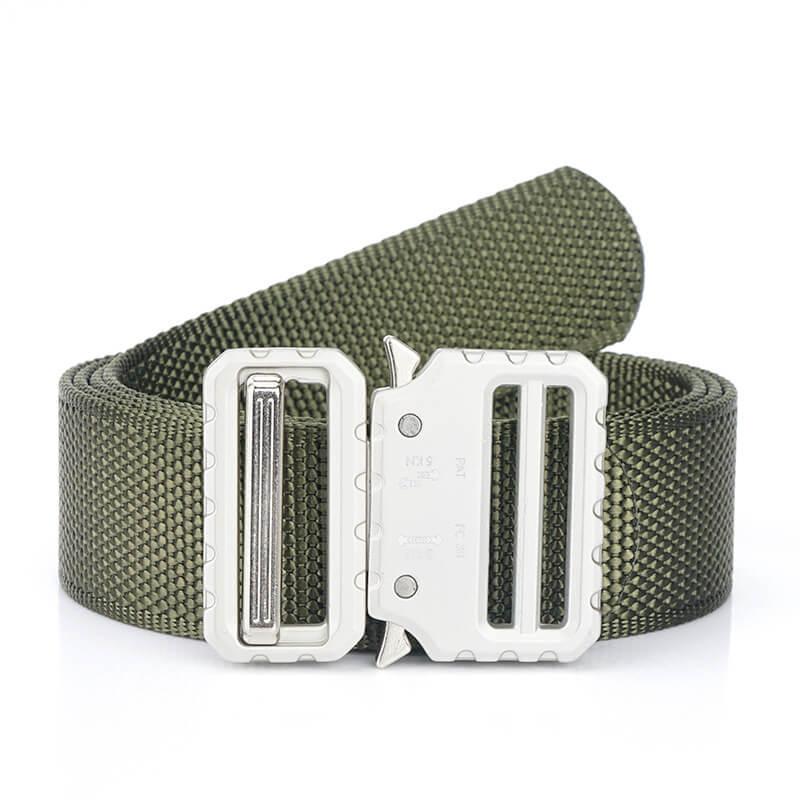 Thắt lưng vải khóa màu bạc đẹp mắt cho quần jean nam H016