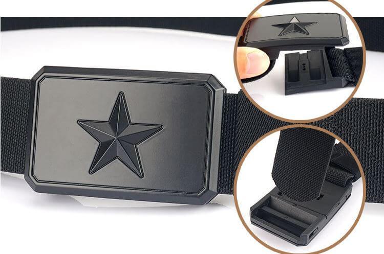 Thắt lưng vải mặt ngôi sao bản rộng 3,8cm thời trang H017