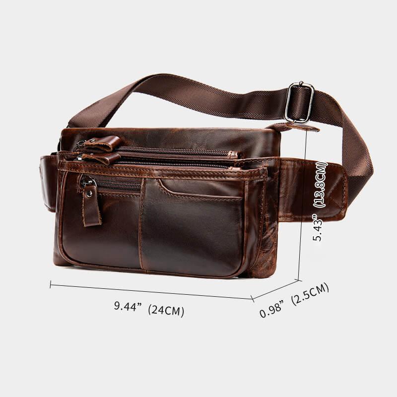 Túi đeo chéo nam da bò phong cách Âu Mỹ hình vuông nam tính G431