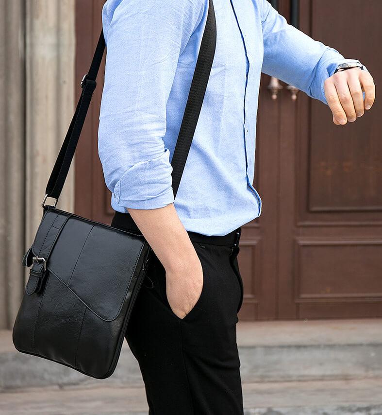 Túi đeo chéo nam da bò