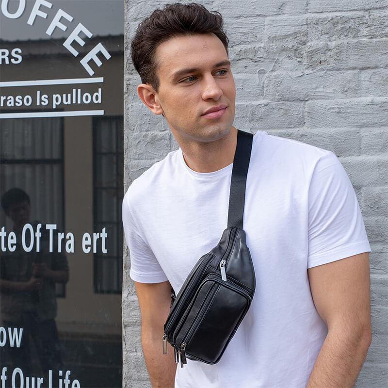Túi đeo chéo trước ngực da cừu dáng thể thao đẹp mắt G615