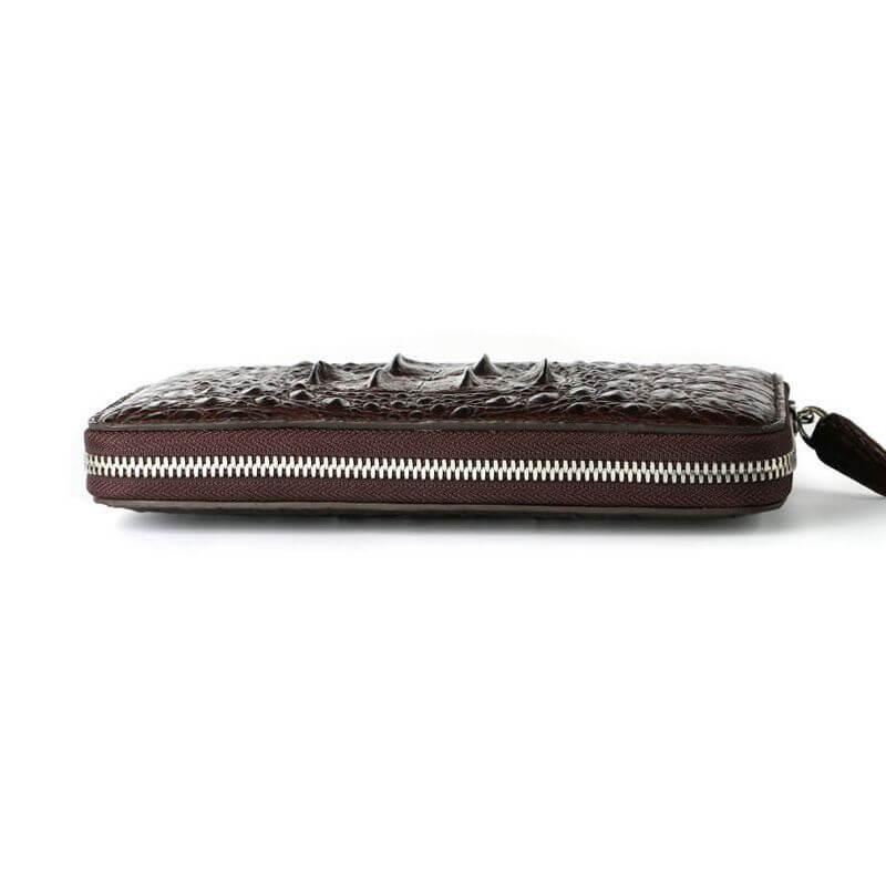 mặt nằm mẫu ví cầm tay da cá sấu F250B