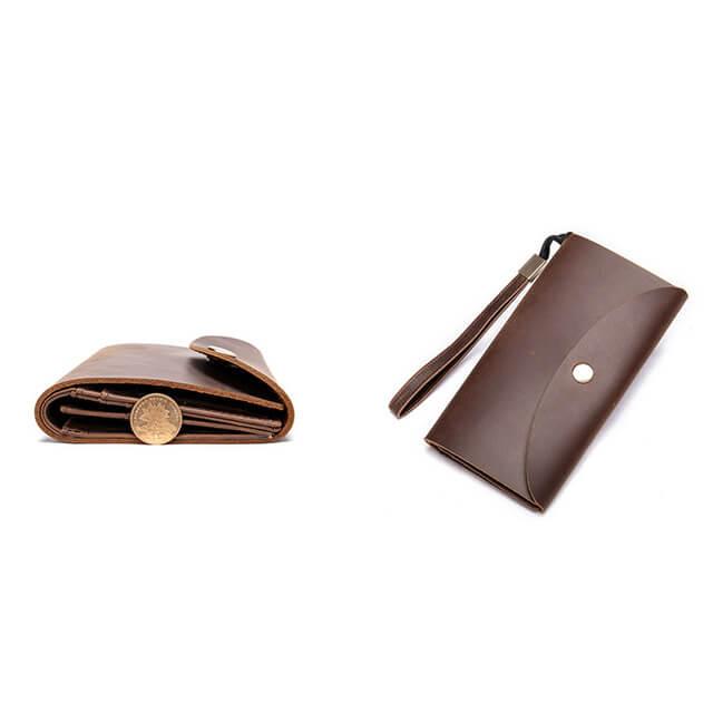 Mặt nghiêng và mặt nằm của ví D086