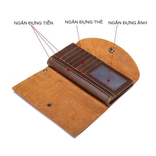 Mặt sau của ví clutch D086