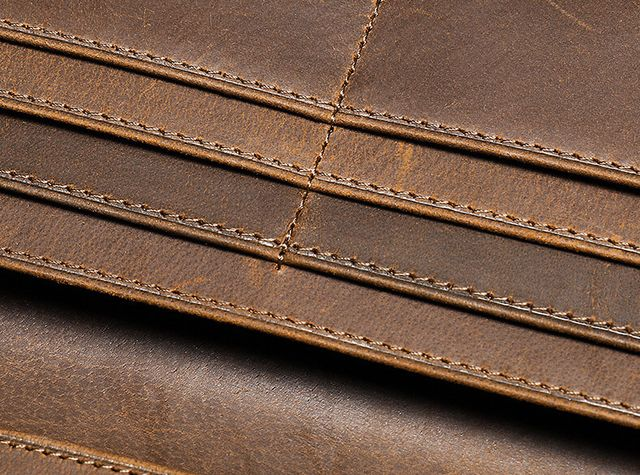 Đường chỉ may đẹp mắt của ví cầm tay D097
