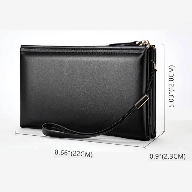 Kích thước của ví cầm tay nam phong cách châu Âu D138