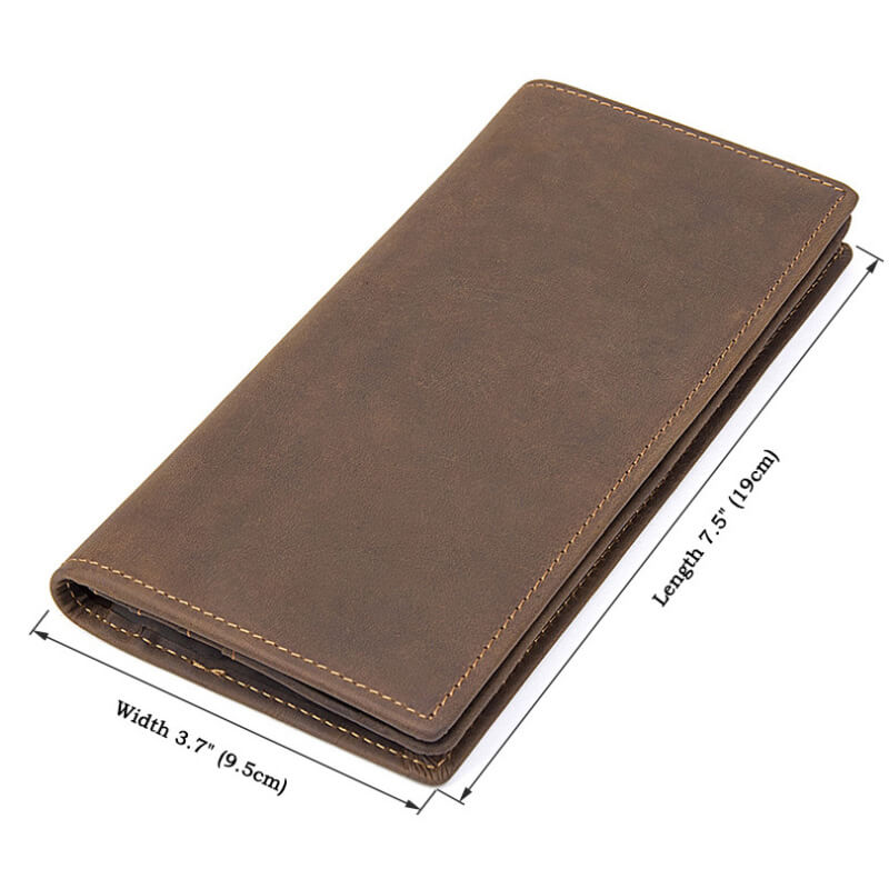 Kích thước của ví cầm tay nam