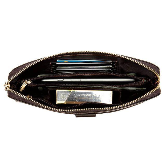 Thiết kế mặt trong của mẫu ví cầm tay D309C