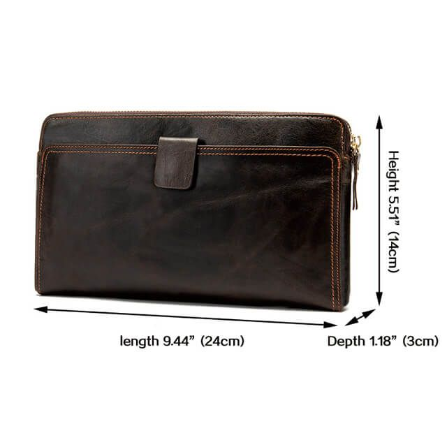 Kích thước của mẫu ví nam D309A