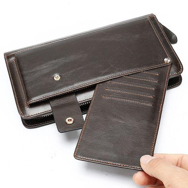 Đầy đủ ngăn đựng thẻ ví cầm tay nam D337C