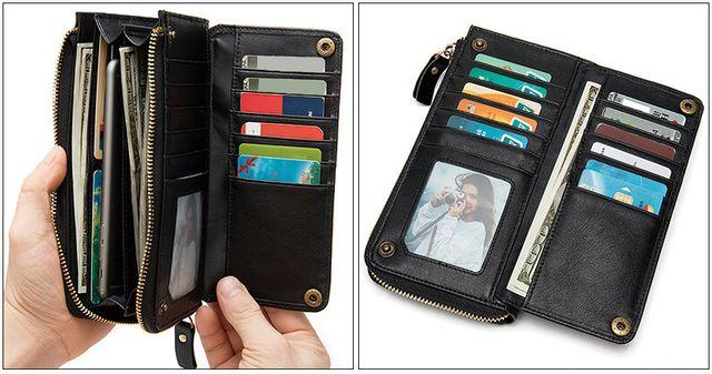 Mặt trong của ví cầm tay nam D683