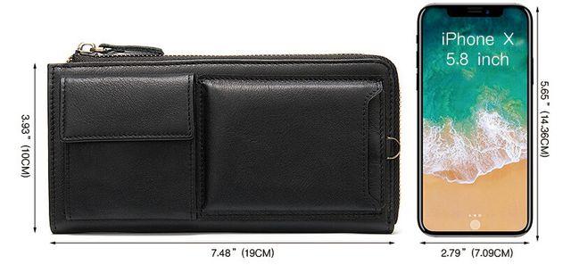 Kích thước của ví cầm tay nam D683