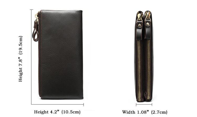 Kích thước của mẫu bóp cầm tay D695