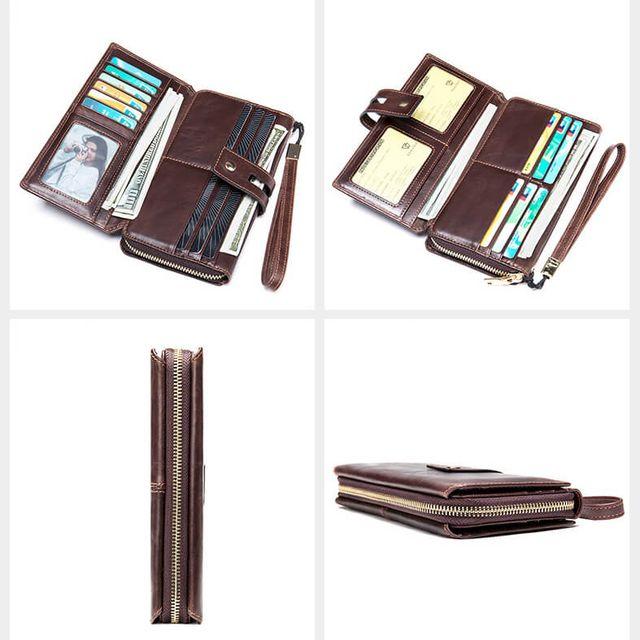 Các kiểu dàng và mặt trong của ví cầm tay D771