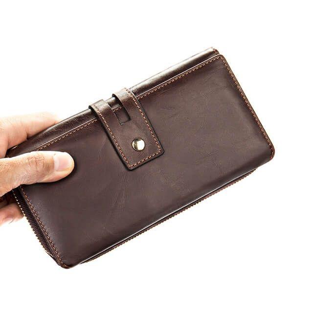 From dáng của ví cầm tay đẹp dành cho nam D771