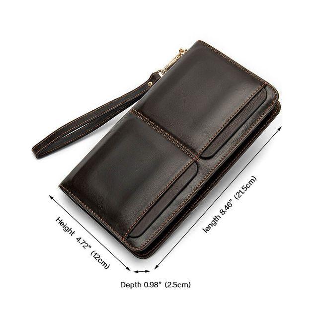 Kích thước mẫu ví dài cầm tay D826A