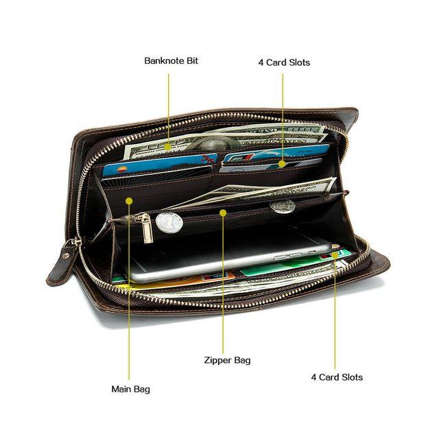Mặt trong của ví cầm tay nam D826A