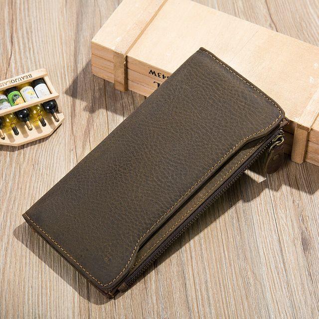 Vẻ đẹp sang trọng của ví cầm tay da bò D833A