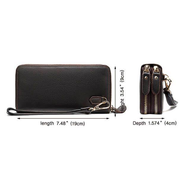 Kích thước của mẫu ví cầm tay D463