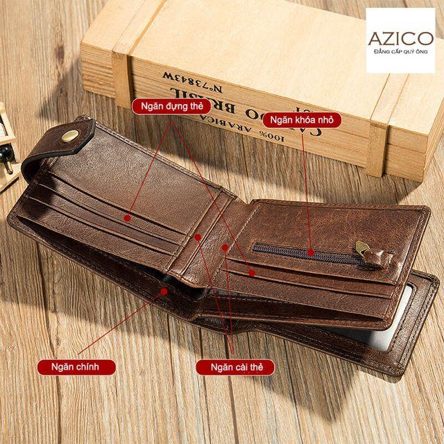 Ngăn bên trong của ví có thể đựng nhiều món đồ