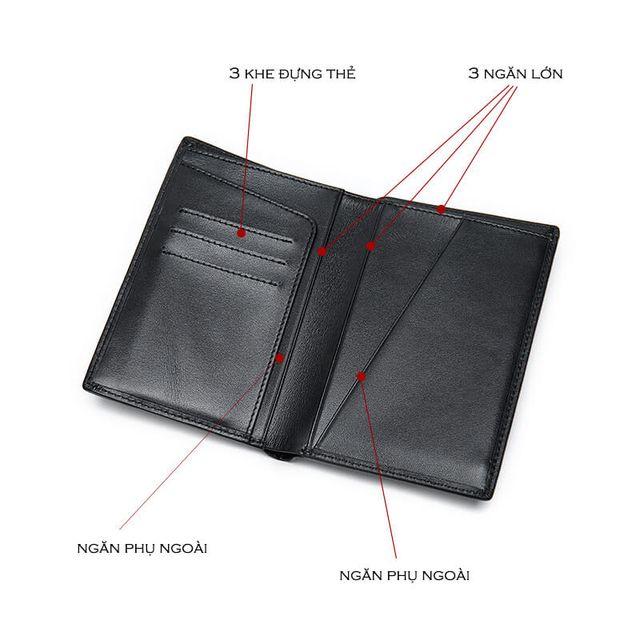 Ngăn đựng tiền bên trong mẫu ví D905A