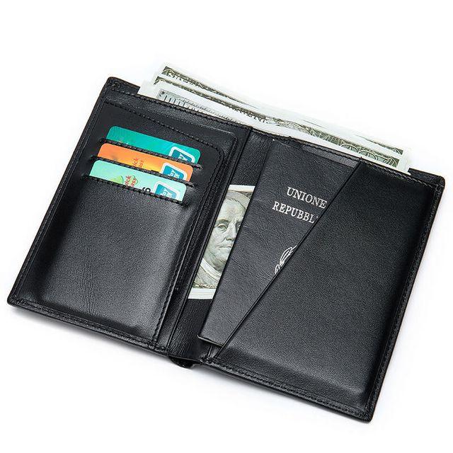Mặt trong của mẫu ví đựng Passport D905B