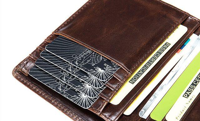 Nhiều ngăn đựng thẻ mẫu ví nam D249A